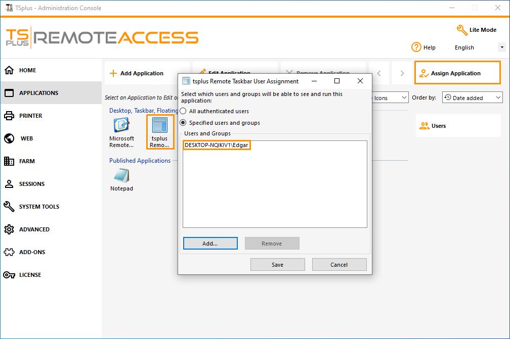 Remote Taskbar and Desktops themes