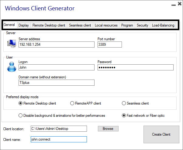 Portable Client Generator